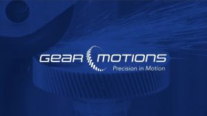Screenshot of Gear Motions corporate video with logo